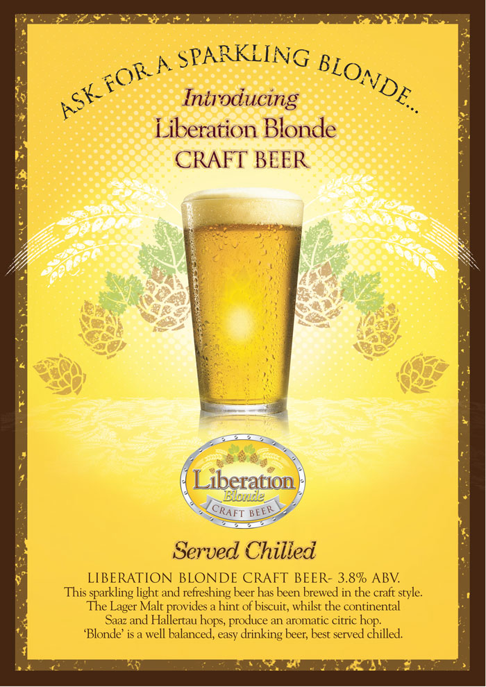 Liberation Blonde Craft Beer