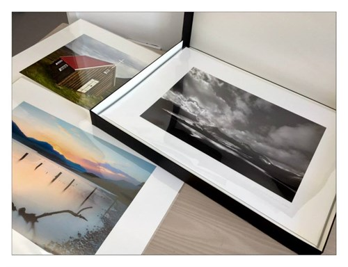 Kevin Brace frames and mounts his own prints