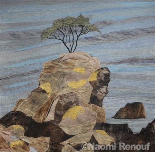 Clinging on, Bouley Bay by Naomi Renouf