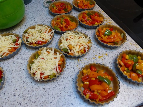 Pepper Sweetcorn Chilli Quiche