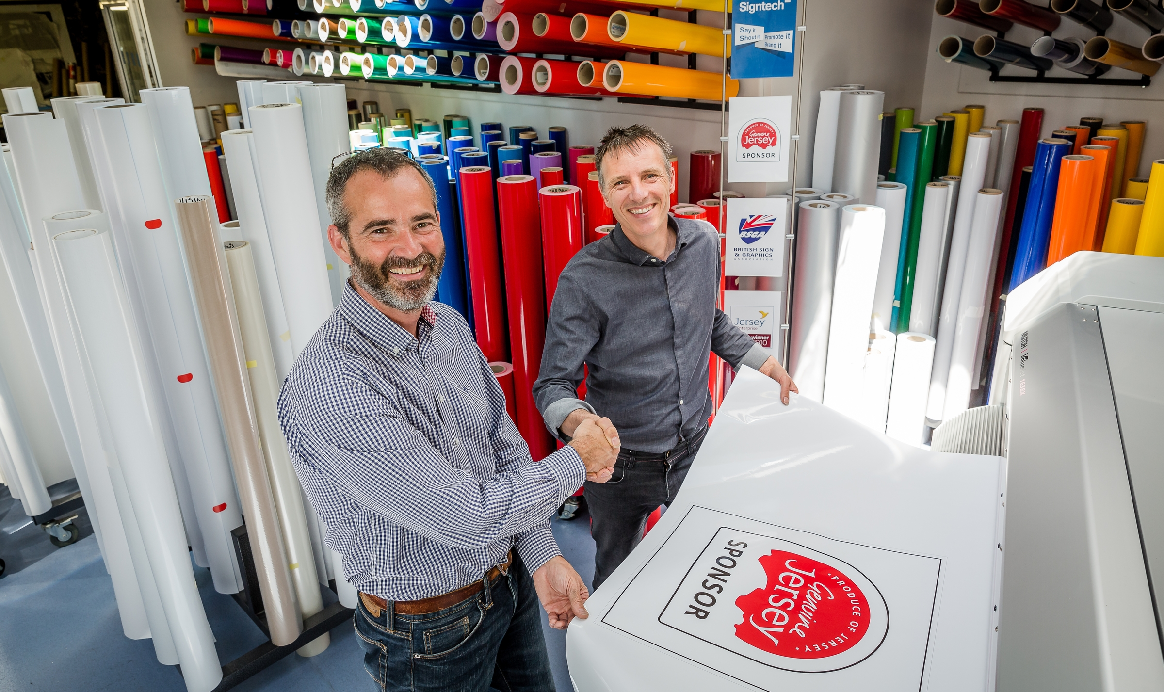 A sign of the times: leading business becomes  part of the Genuine Jersey success story