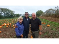 TV personality pays local farm a visit